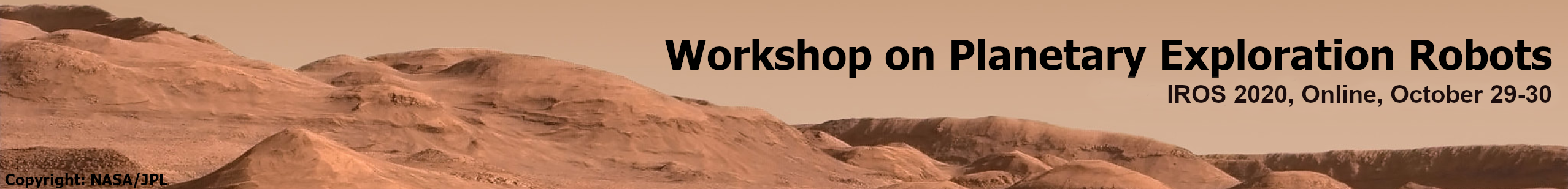 Workshop on Planetary Exploration Robots